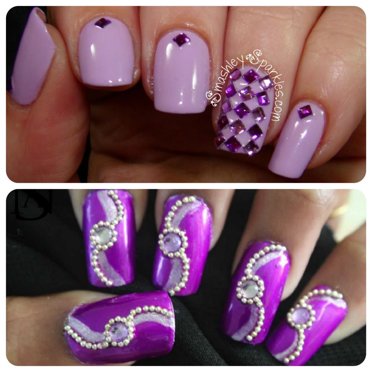 Purple_nail-art