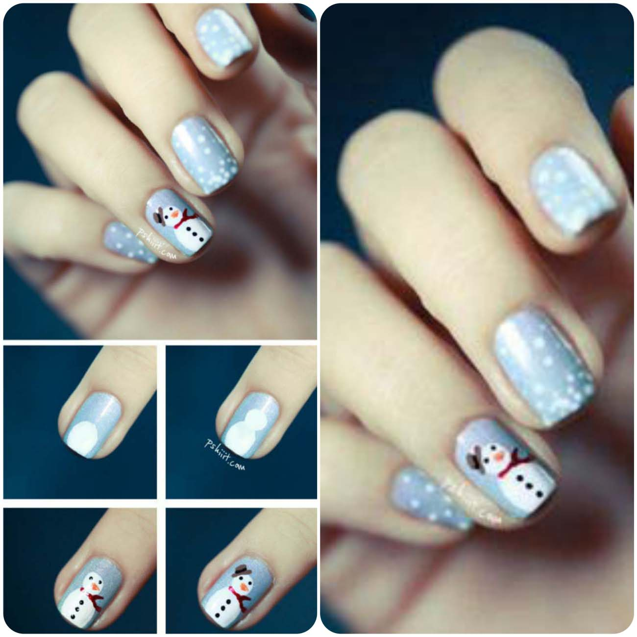 Charistmas Winter Nail art designs (11)_Fotor_Collage