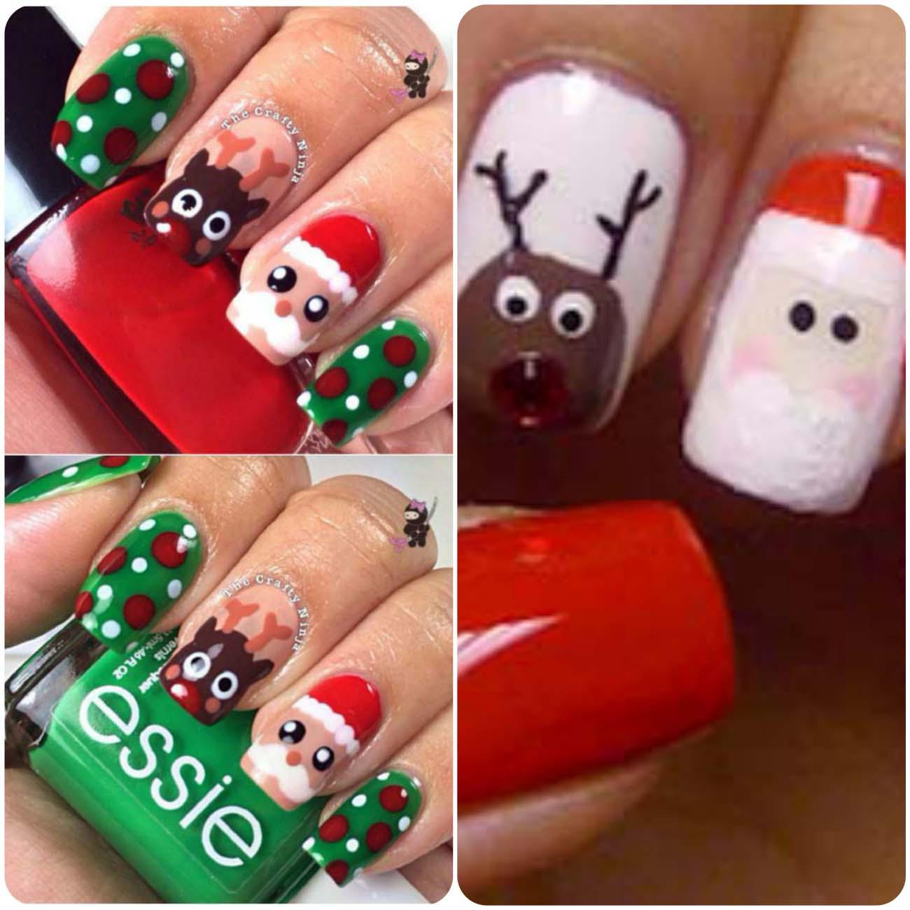 Winter nail art for christmas