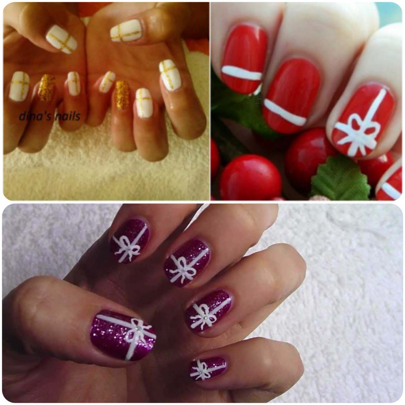Charistmas Winter Nail art designs (3)_Fotor_Collage