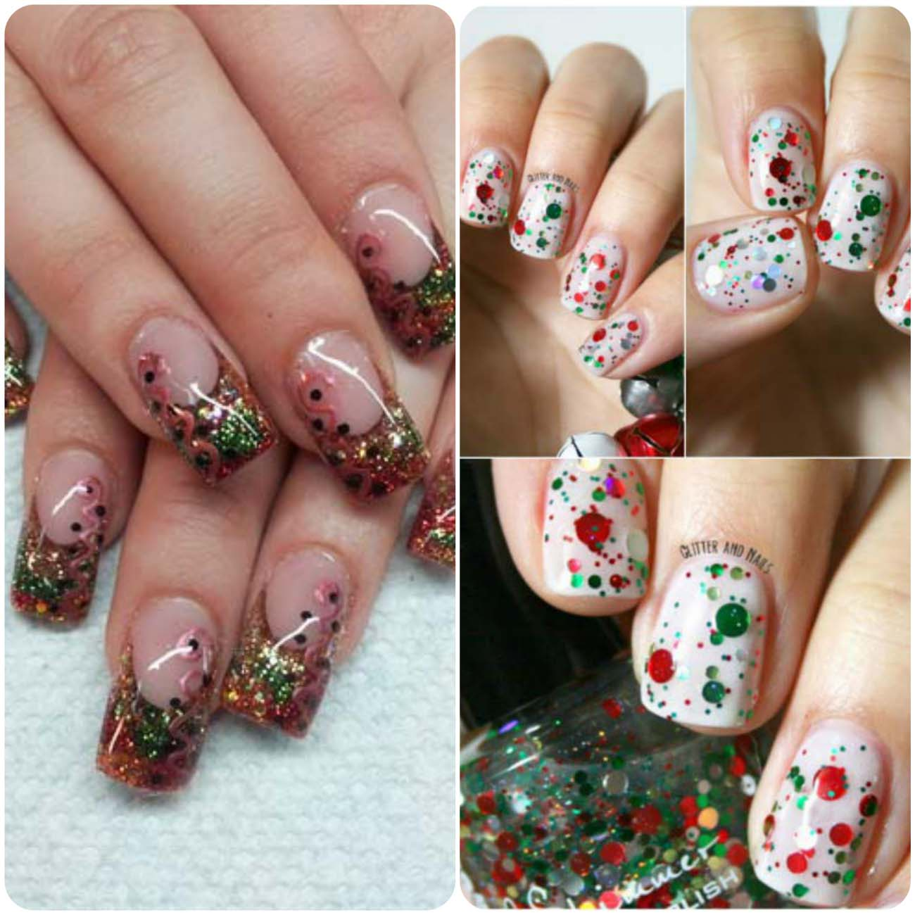 Charistmas Winter Nail art designs (9)_Fotor_Collage