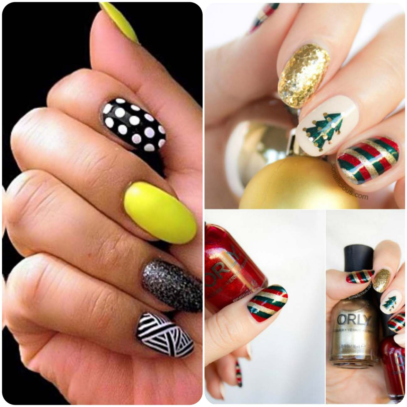 Winter nail art on ocassion of christmas