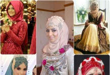 latest bridal hijab collection 2016