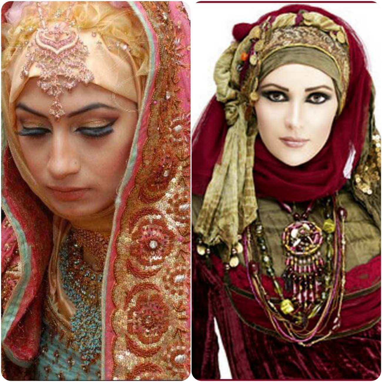 Bridal Hijab Fancy Dresses Designs 2016-2017