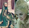 Latest Bridal Hijab Dresses Designs & Styles Collection 2016-2017…styloplanet (24)