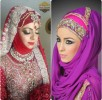 Latest Bridal Hijab Dresses Designs & Styles Collection 2016-2017…styloplanet (26)