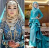 Latest Bridal Hijab Dresses Designs & Styles Collection 2016-2017…styloplanet (27)