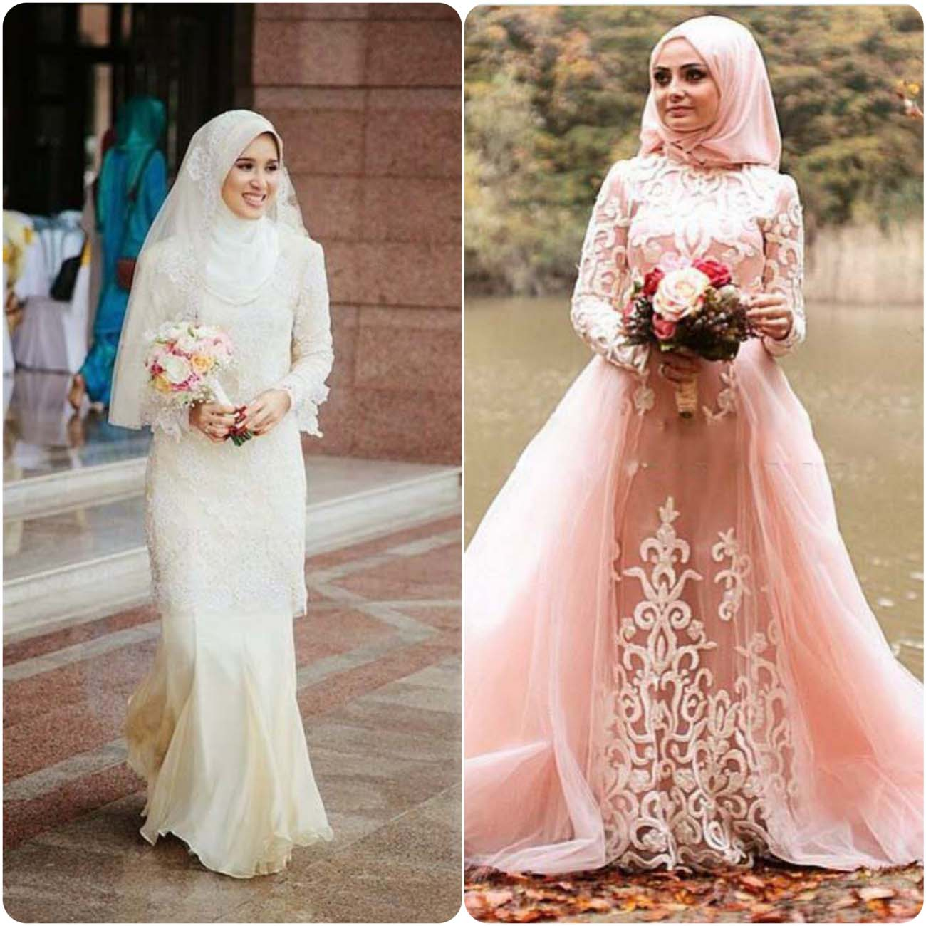 Latest Bridal Hijab Dresses Designs & Styles Collection 2016-2017...styloplanet (29)
