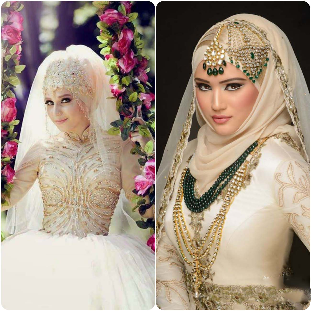 Bridal Hairstyles 2016: Latest Bridal Hijab Dresses Designs & Styles Collection
