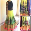 Latest neon lehnega choli dresses…. styloplanet (2)