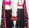 Latest neon lehnega choli dresses…. styloplanet (6)