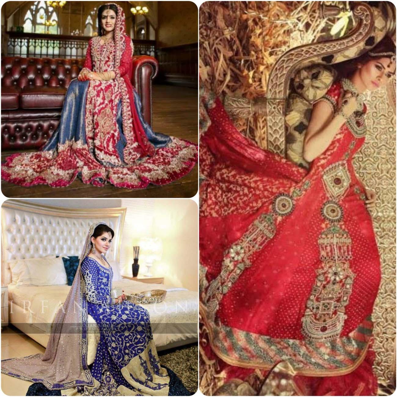 Pakistani Bridal Lehenga Dresses Designs Collection 2017-2018