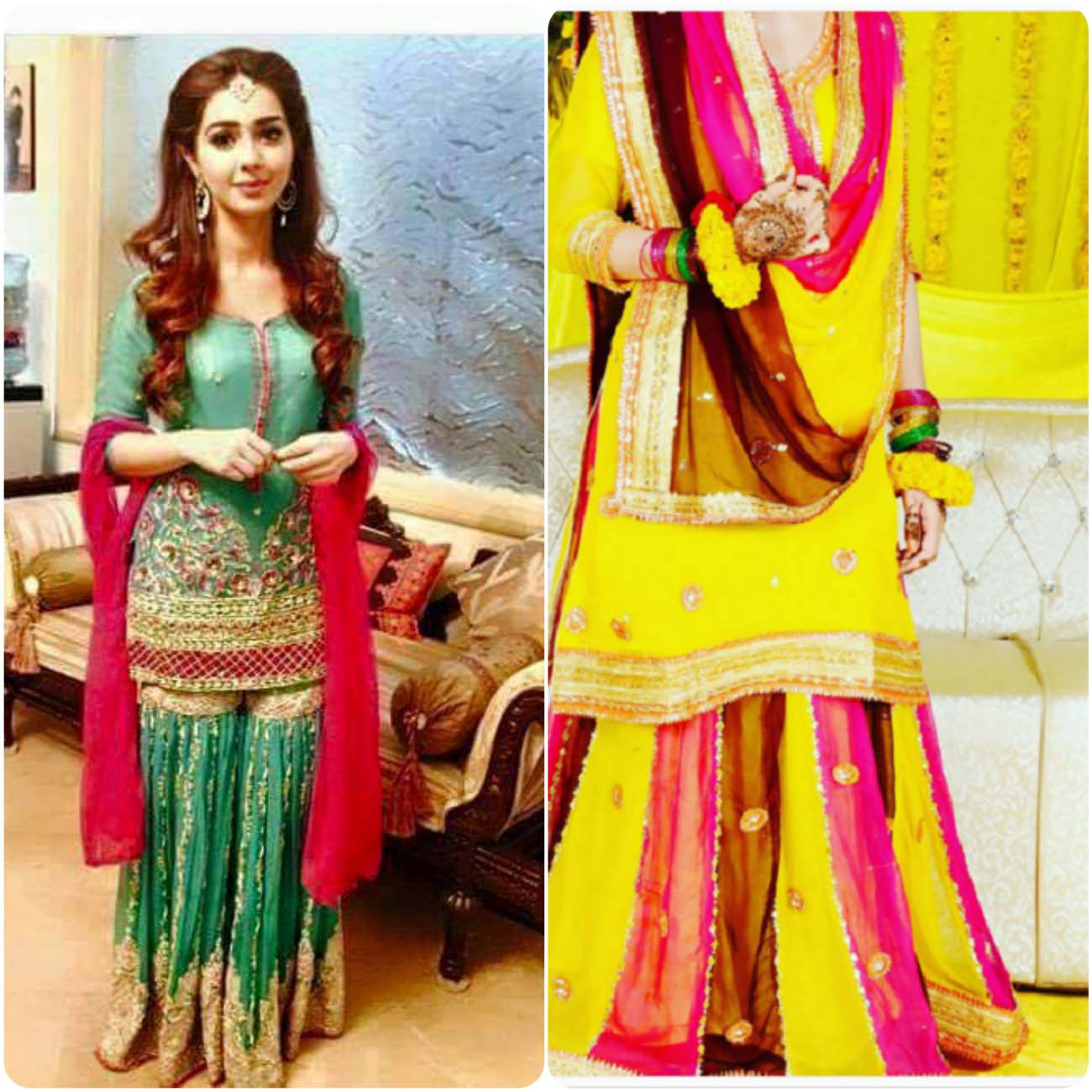 Color Combinations With Pink Mehendi Dresses For Asian Brides 2016 2017 Stylo Planet