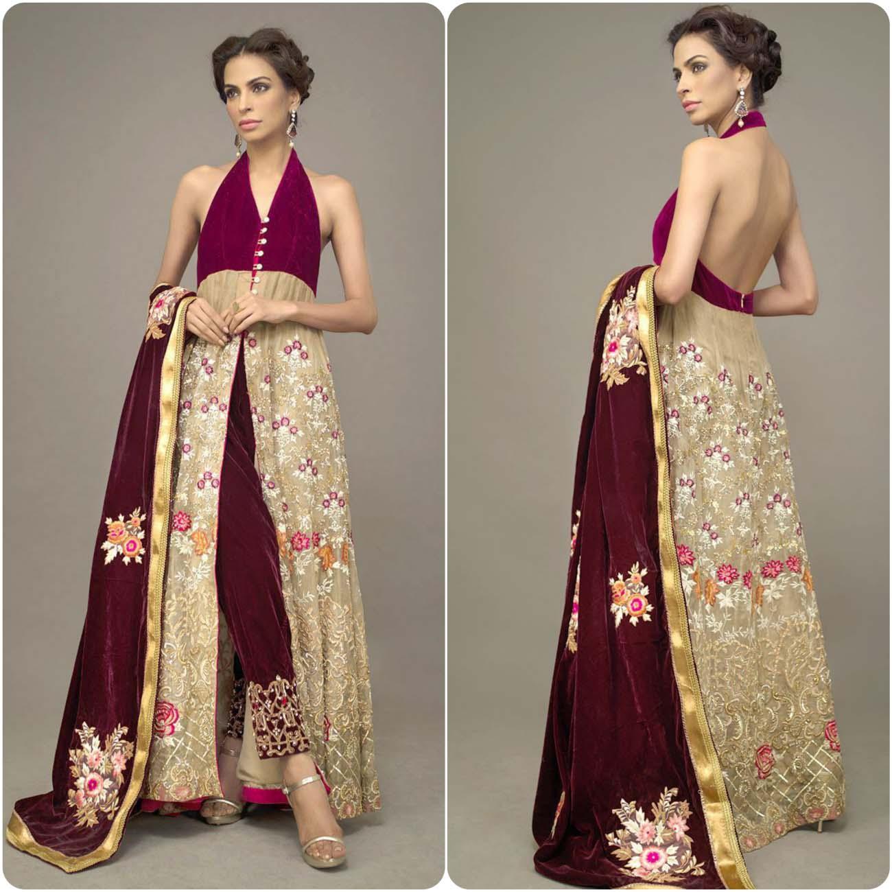 deepak perwani bridal wear collection 2106