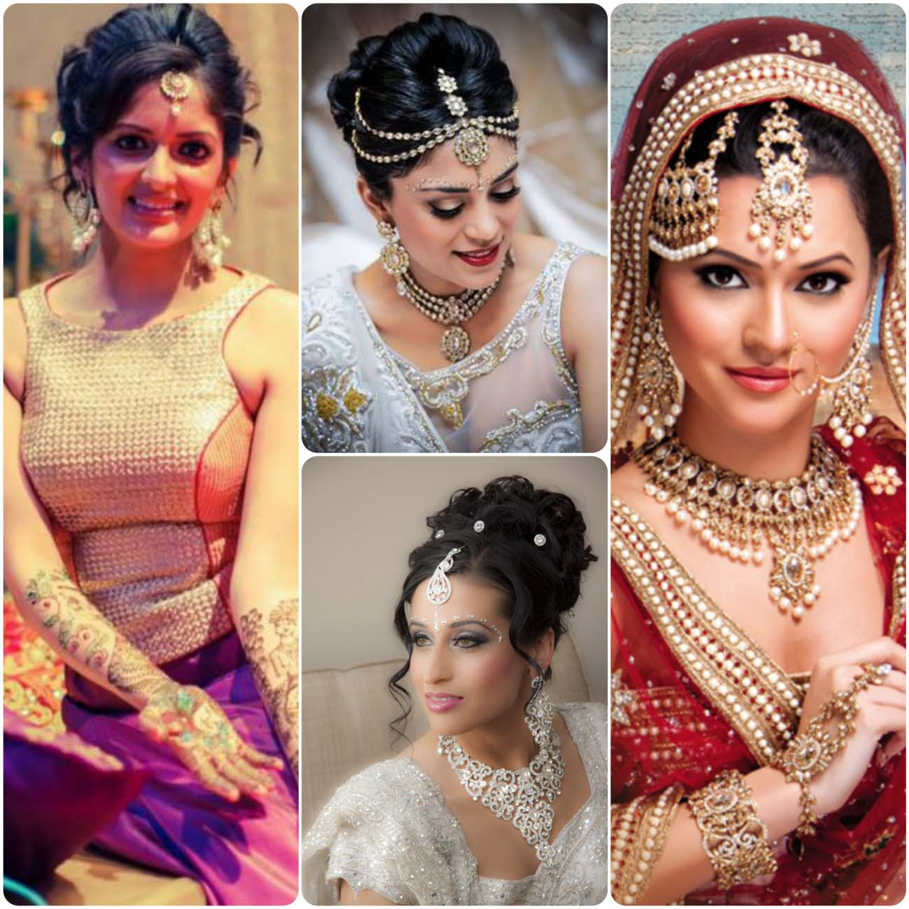 Indian other hairstyles for wedding brides