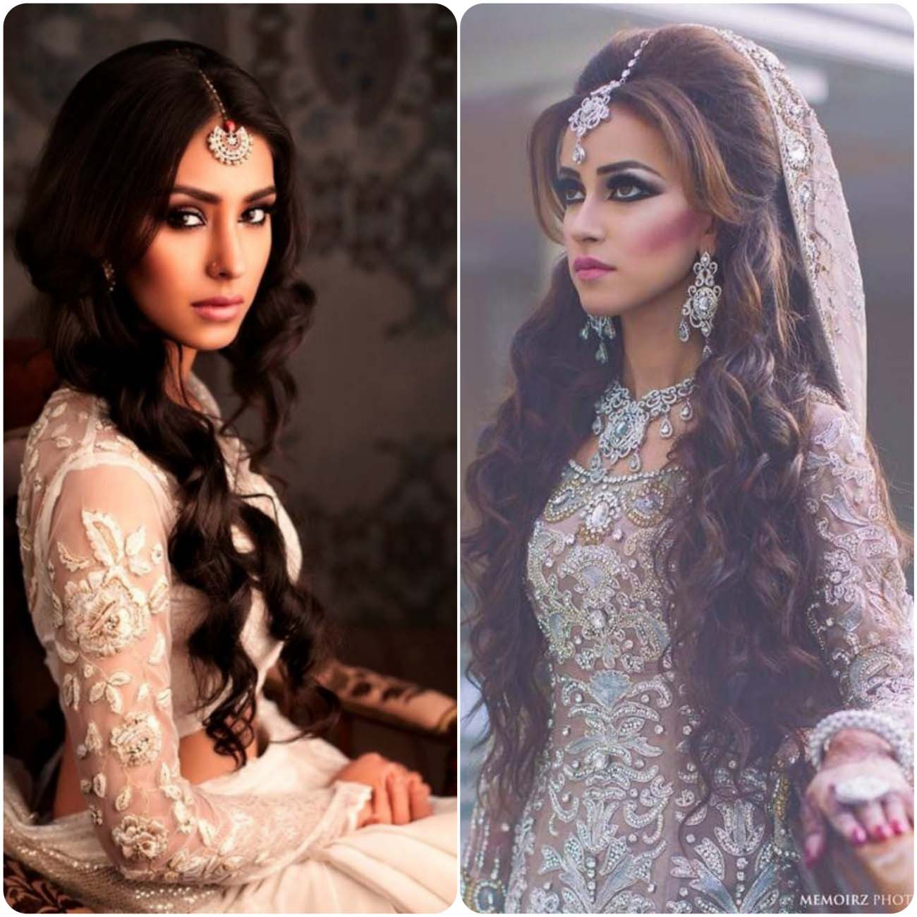 indian wedding bridal curly hairstyles