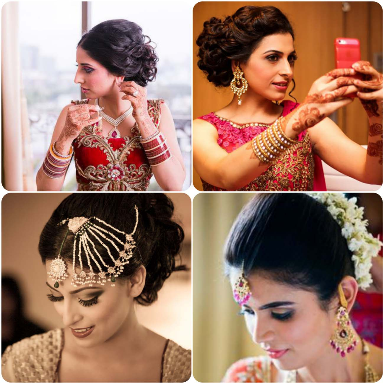 Indian Wedding Hairstyles For Brides 2016...styloplanet (7)