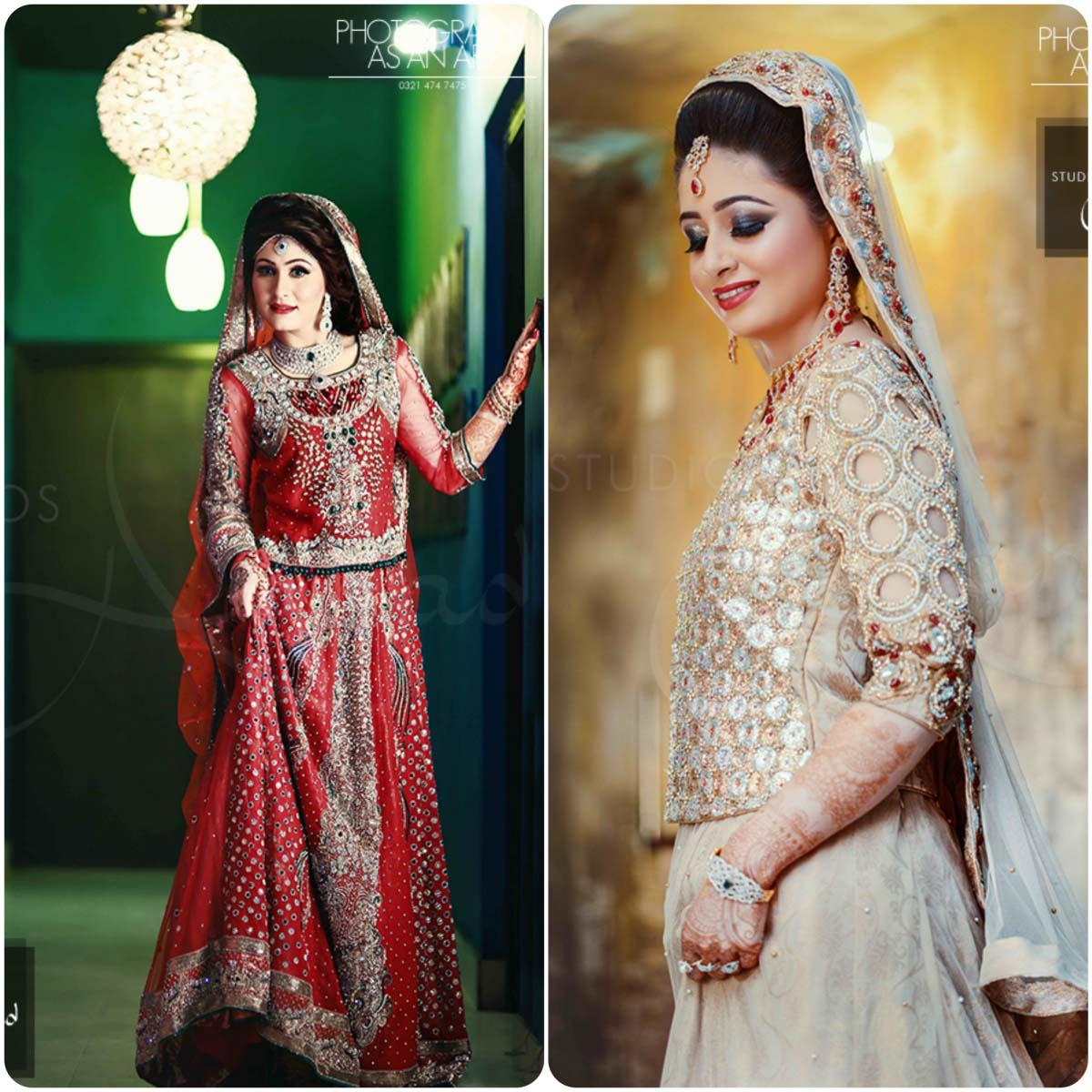 Pakistani ghagra choli designs