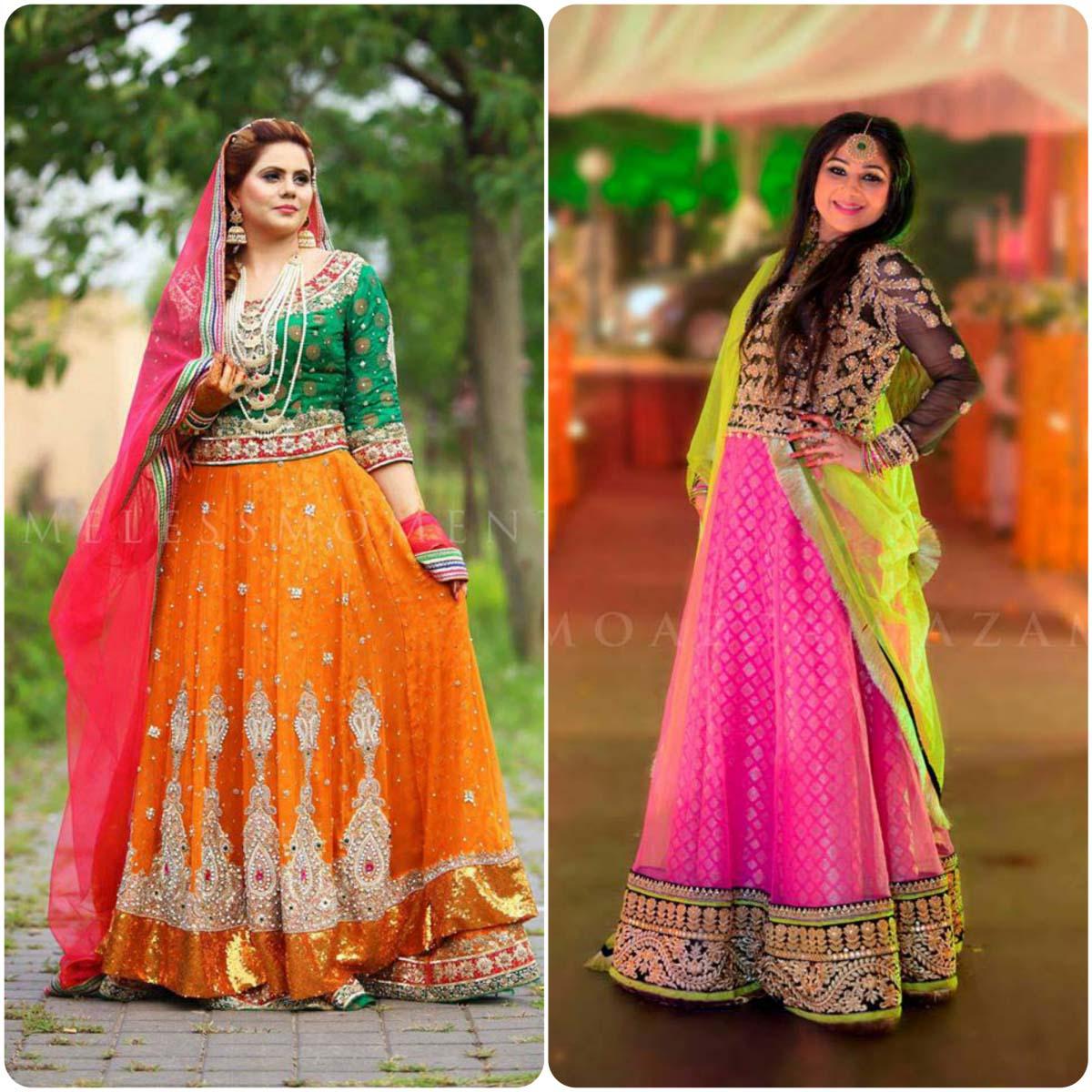 Latest Pakistani Ghagra Choli Styles (4)