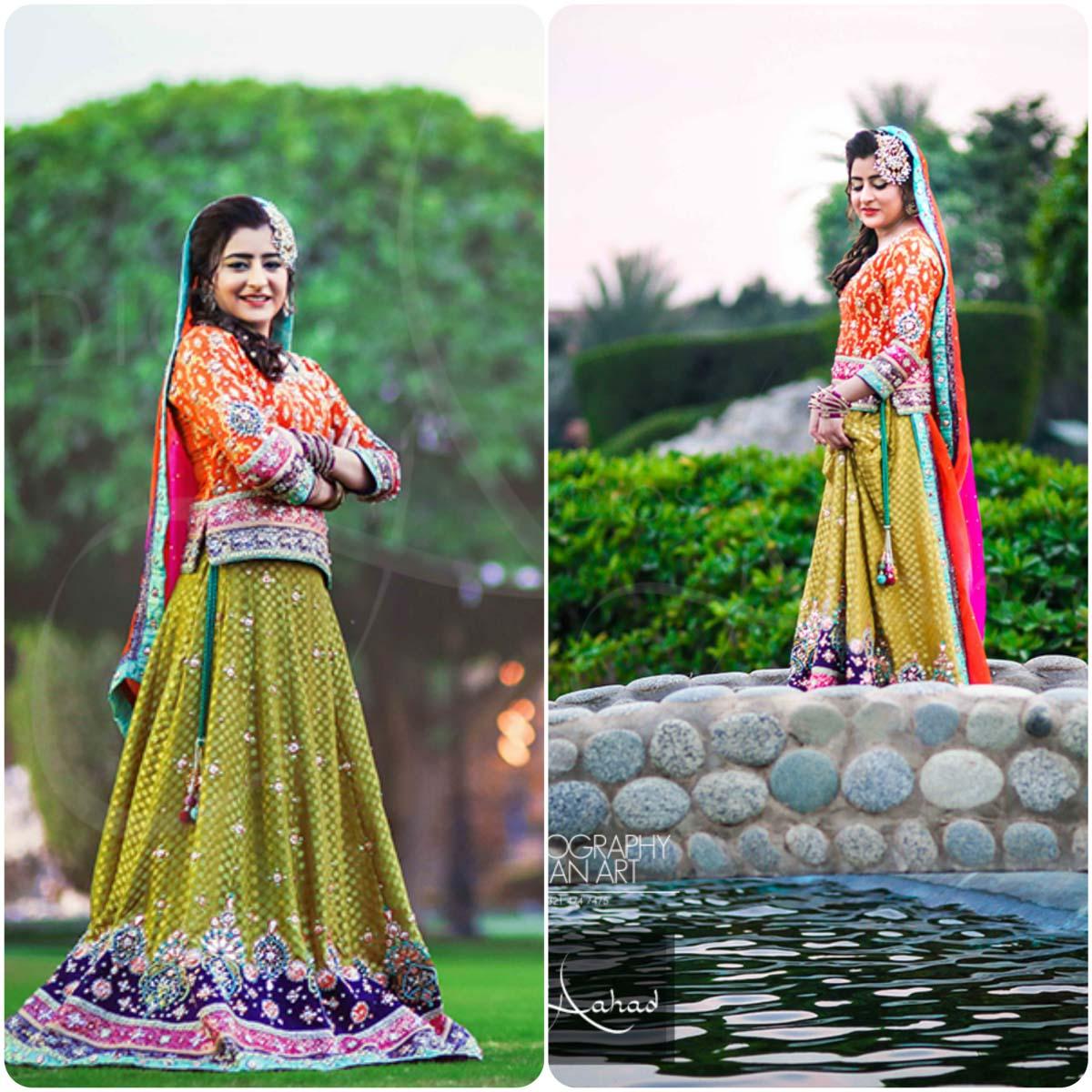 Latest Pakistani Ghagra Choli Styles (8)