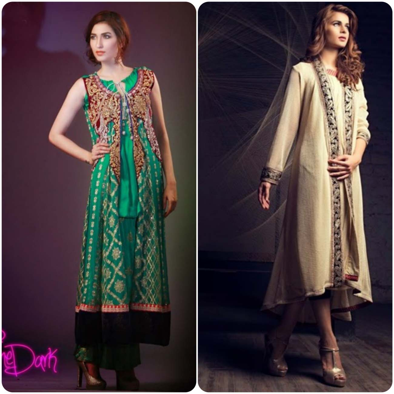 open front double shirt frocks