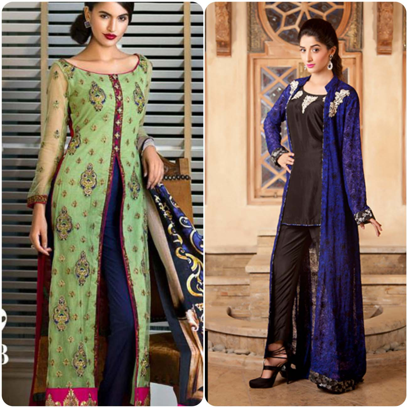 Open Frocks And Double Shirt Dresses Collection 2016-2017...styloplanet (11)