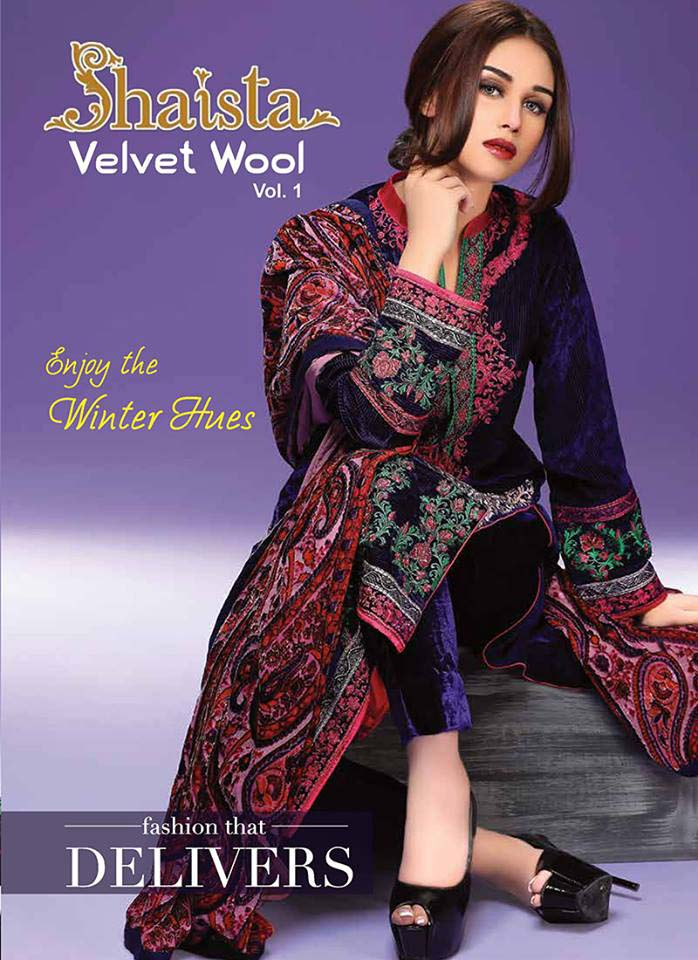 Shaista Cloths Velvet Wool And Pure Shamose Winter Collection 2016...styloplanet (10)