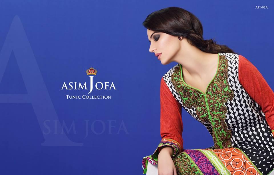 Asim Jofa Tunic/ Embroidered Kurties Collection 2016-2017