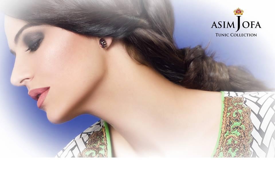 Asim Jofa Tunic Embroidered Kurties Collection 2016-2017...styloplanet.com