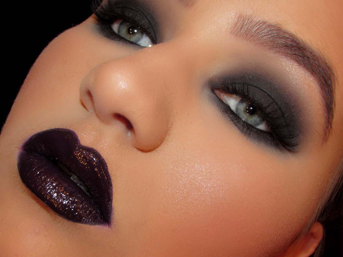 Black Smokey Eyes Makeup Step By Step- Tutorial (1)