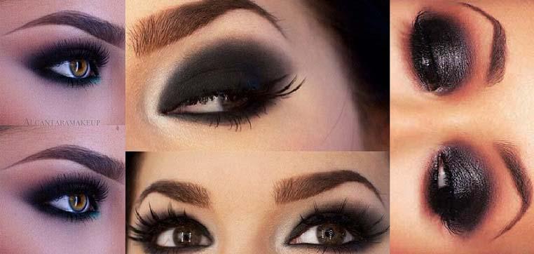 Black Smokey Eyes Makeup Step By Step- Tutorial (10)