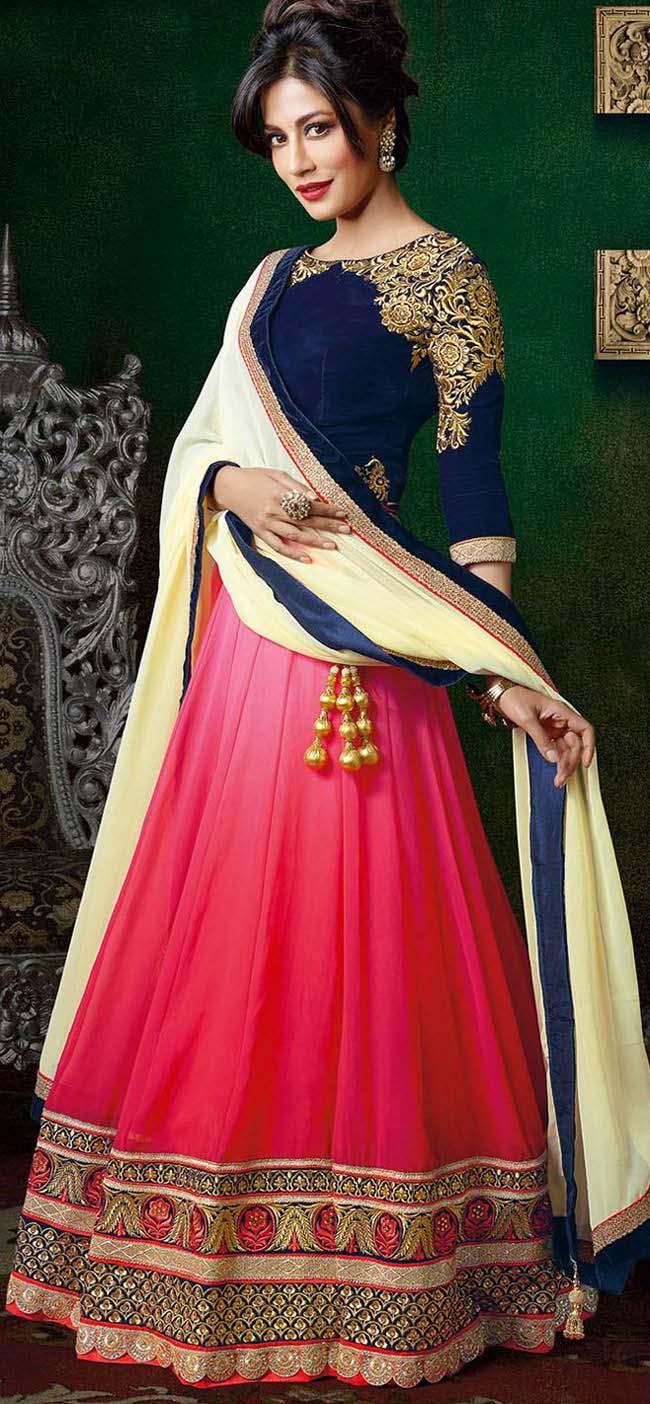 Chitrangada Singh in blue and pink lehenga...styloplanet.com