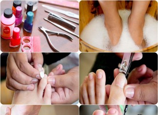 how to do pedicure at home easily