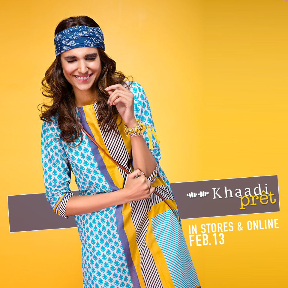 Khaadi Casual And Semi-Formal Pret Kurties Collection 2016-2017 Vol 1