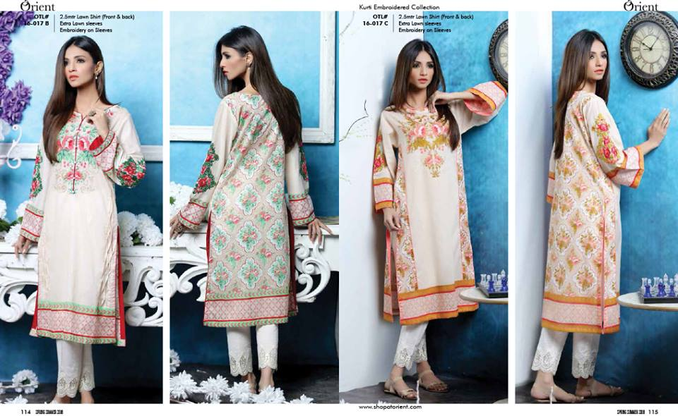 Orient Textiles Latest SpringSummer Lawn kurtis Collection 2016-2017...styloplanet (2)