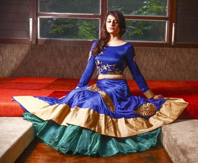 Rima and rashmi blue ghagra choli design...styloplanet.com