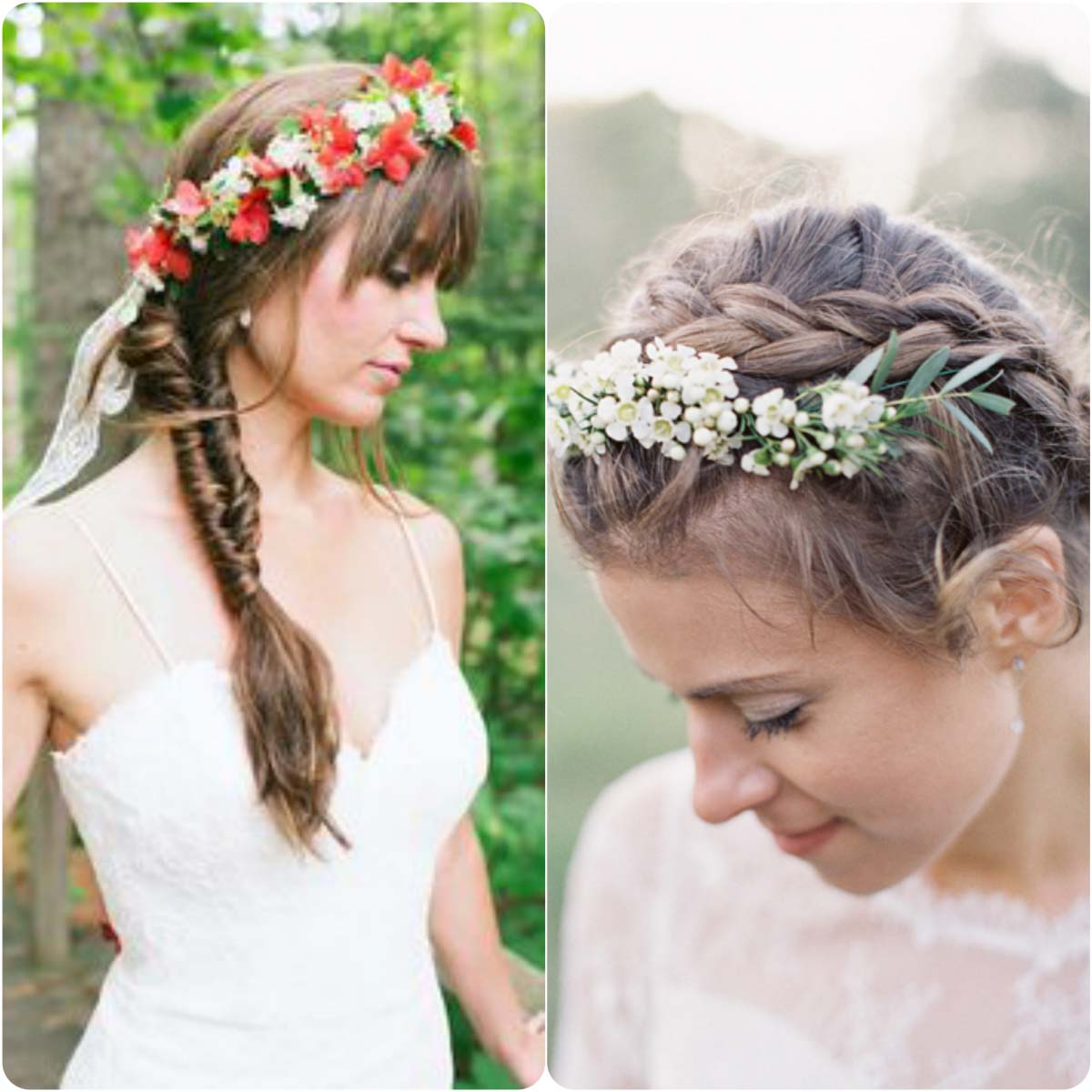 floral braided bands
