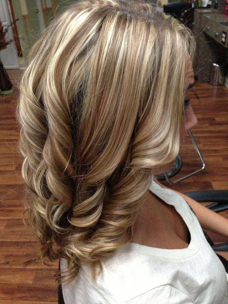 Burnette Lowlights with Blone Highlights