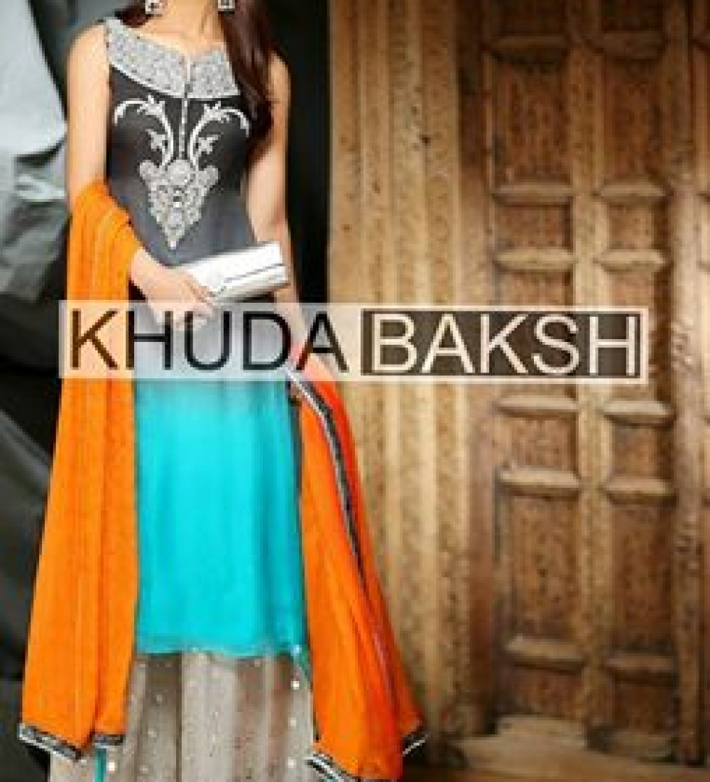 Khuda Baksh Latest Party Wear Collection For Women 2016-2017 (1)