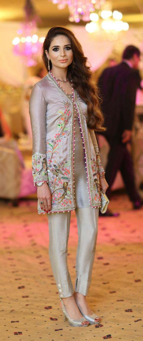 Latest Embroidered Party Wear Shirts With Trousers Designs Collection 2016-2107 (21)