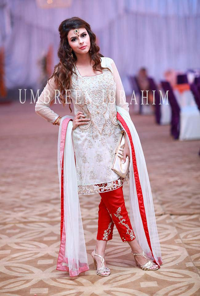 Latest Embroidered Party Wear Shirts With Trousers Designs Collection 2016-2107 (24)