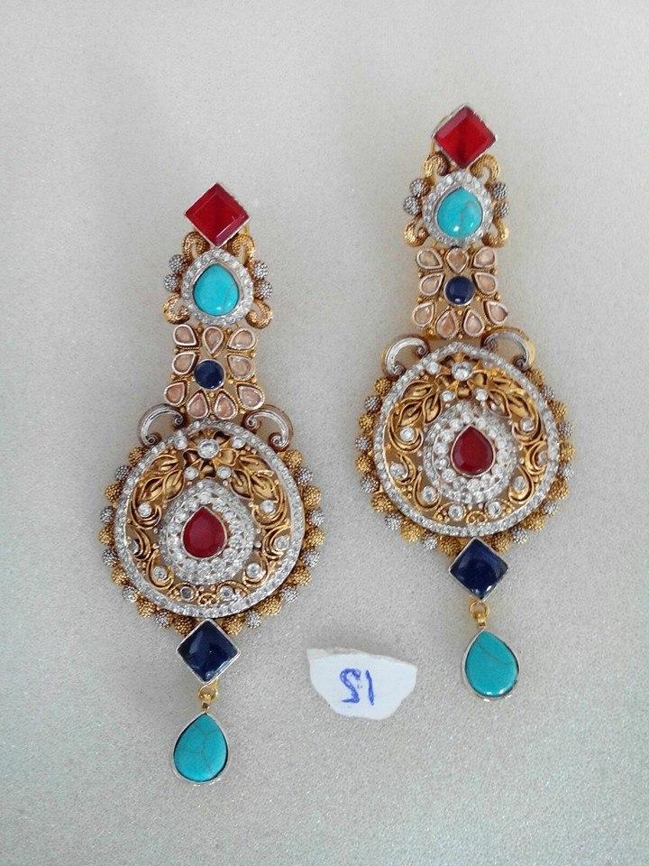 Kundan jhumka designs
