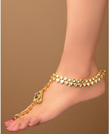 kundan payals and anklets collection