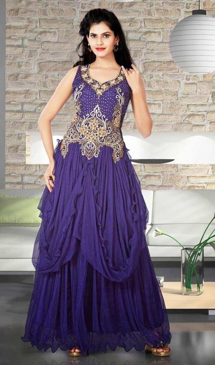 Pakistani & Indian Party Wear Designer Dresses For Women 2016-2017 (15)