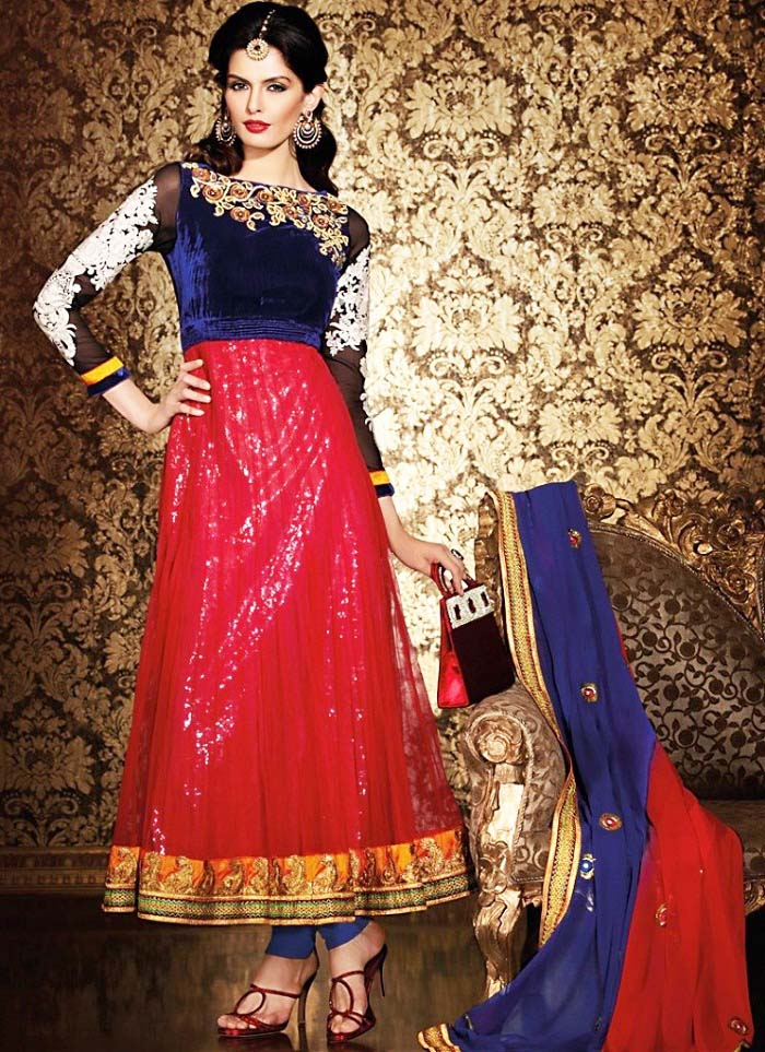 Pakistani & Indian Party Wear Designer Dresses For Women 2016-2017 (22)