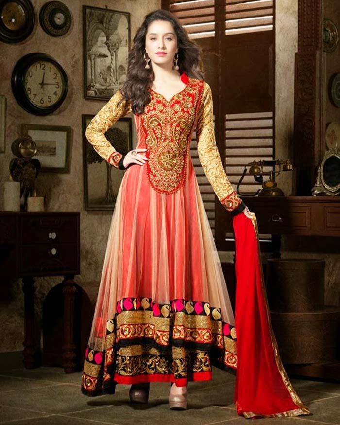 Pakistani & Indian Party Wear Designer Dresses For Women 2016-2017 (25)