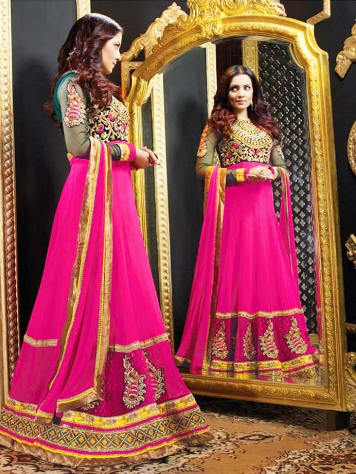 Pakistani & Indian Party Wear Designer Dresses For Women 2016-2017 (32)