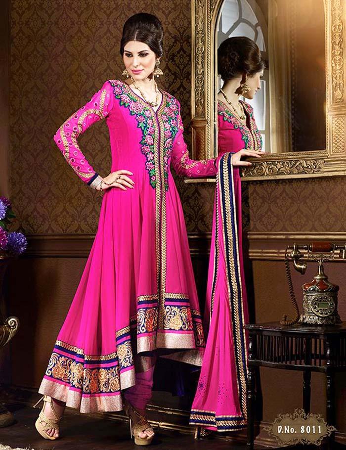 Pakistani & Indian Party Wear Designer Dresses For Women 2016-2017 (36)