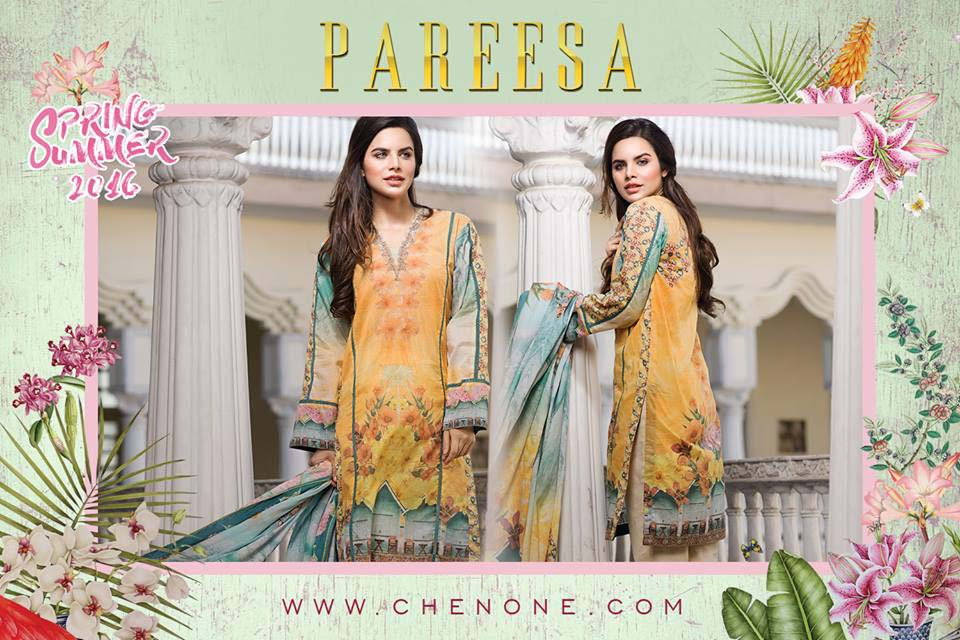 Pareesa By Chen One Spring Summer Lawn Collection 2016-2017 (10)