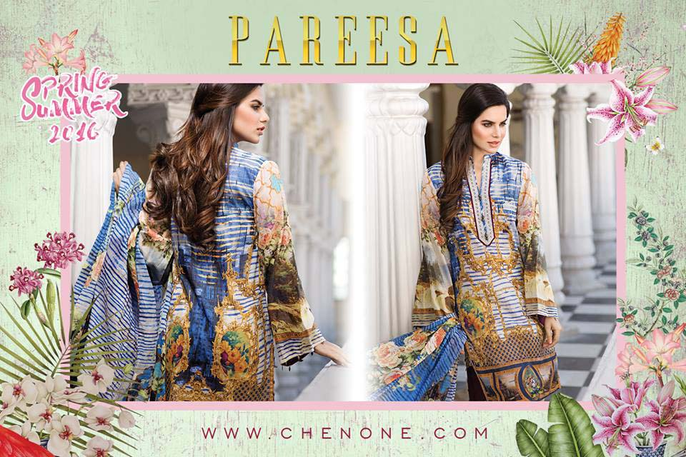 Pareesa By Chen One Spring Summer Lawn Collection 2016-2017 (12)